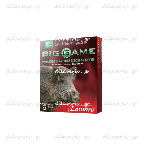 ΦΥΣΙΓΓΙΑ LAMBRO BIG GAME MAGNUM BUCKSHOTS