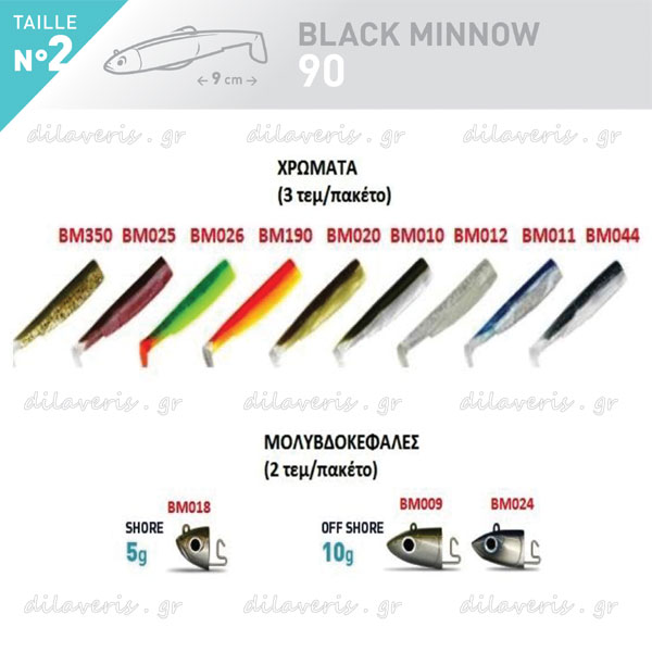 ΣΙΛΙΚΟΝΗ FIIISH BLACK MINNOW No2